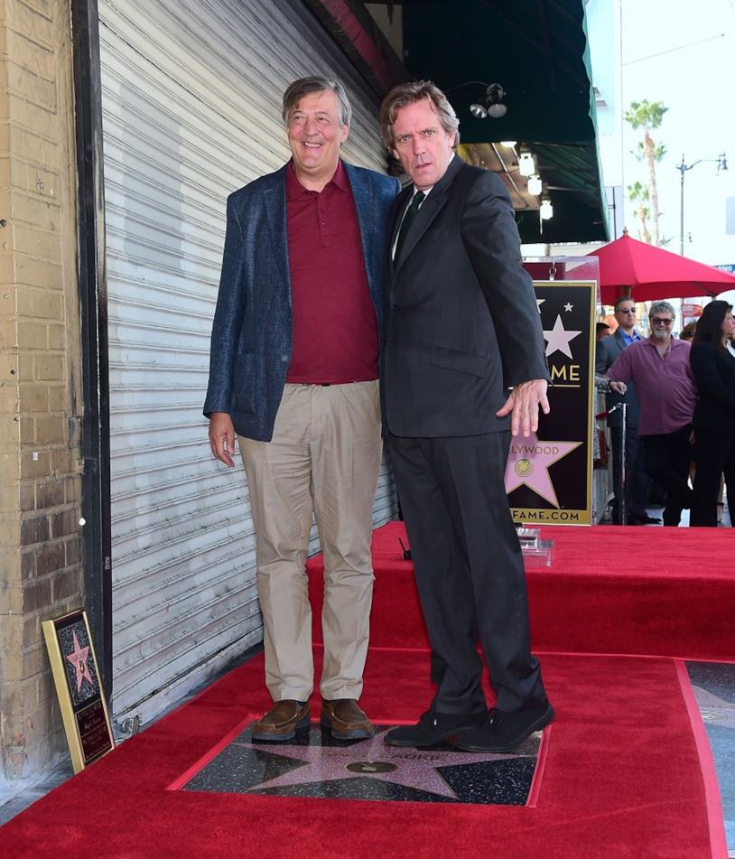 Hugh Laurie e Stephen Fry sulla Walk of Fame