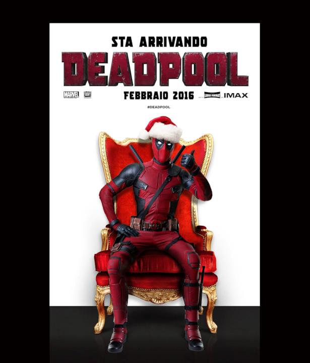 Deadpool in versione Babbo Natale