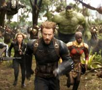 Gli Avengers in Wakanda in una scena di Infinity War