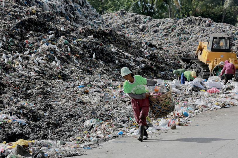Inquinamento: una spiaggia delle Filippine