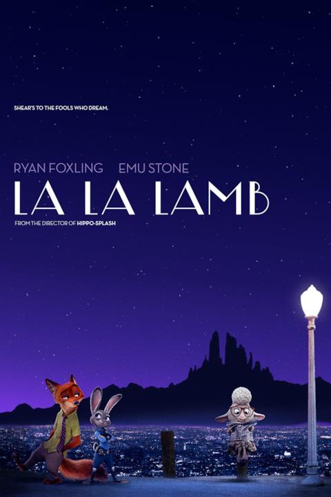 Judy Hopps e Nick Wilde insieme a Bellether nel poster di La La Lamb