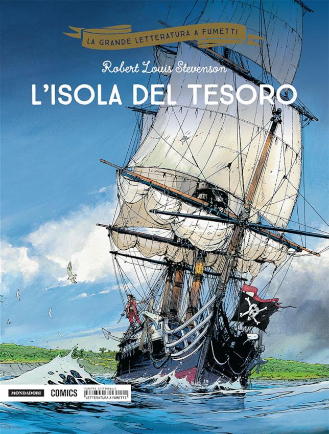 La copertina de L'isola del tesoro nella versione di Mondadori Comics