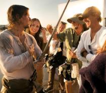 Mark Wahlberg e Michael Bay insieme sul set di Transformers: l'ultimo Cavaliere