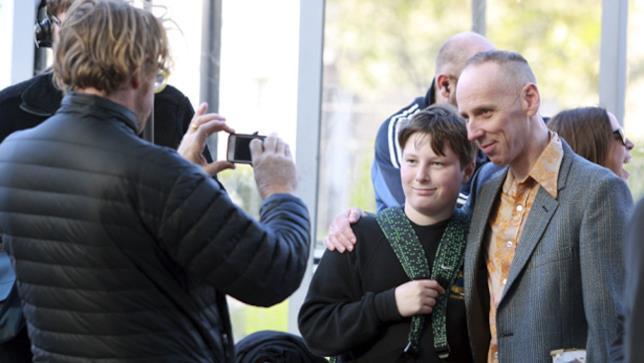Ewen Bremner durante le riprese di Trainspotting 2 ad Edimburgo