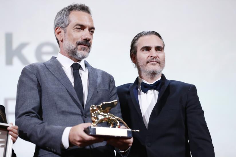 Todd Phillips e Joaquin Phoenix con il Leone d'oro di Venezia 76