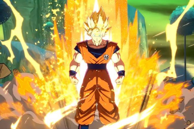 Goku scatena la sua potenza in Dragon Ball FighterZ