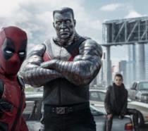 Deadpool, Colosso e Testata Mutante Negasonica in una scena del film
