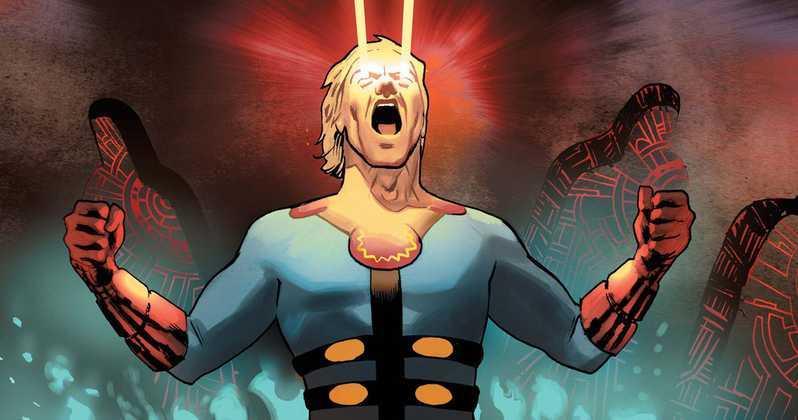 Un Eterno raffigurato sulle pagine di un fumetto Marvel