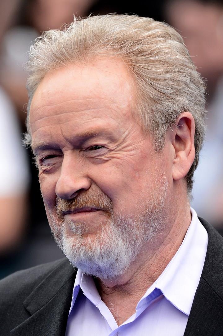 Ridley Scott in primo piano