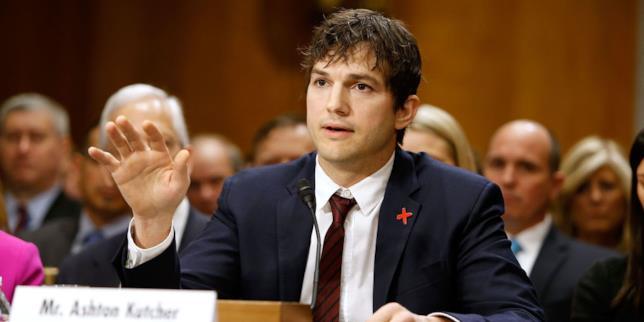 Ashton Kutcher al Congresso degli Stati Uniti