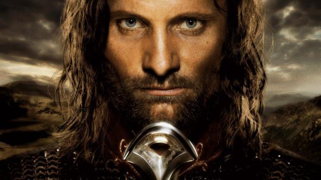 Viggo Mortensen (Aragorn) ne Il Signore degli Anelli