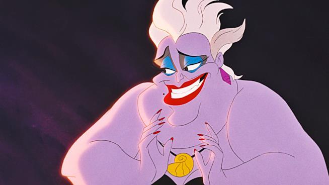 Ursula in una scena di La Sirenetta