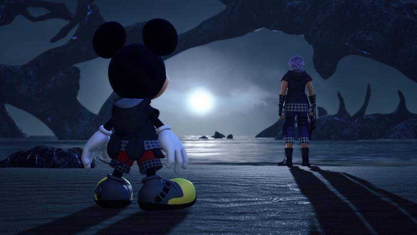 Riku e Re Topolino in Kingdom Hearts 3