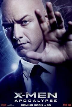 Un poster del film con il primo piano del Professor X