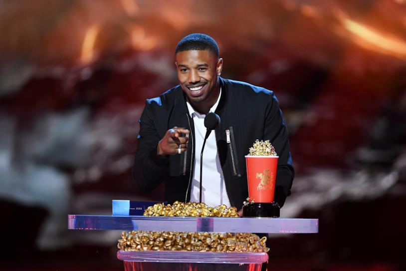 Michael B. Jordan ritira il premio per il miglior cattivo