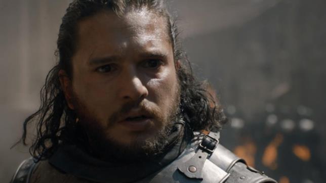 Kit Harington in Game of Thrones 8x05