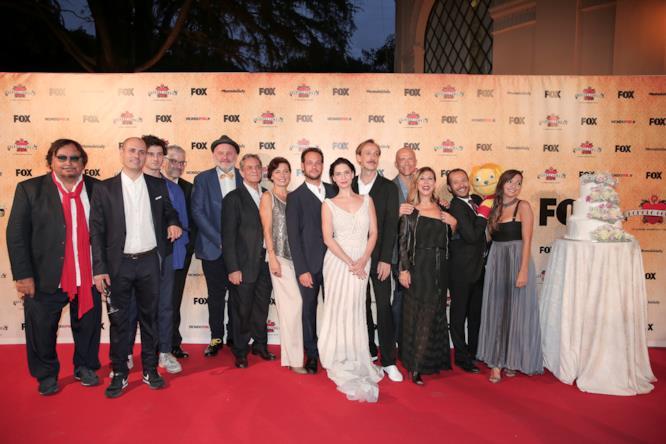 Il cast di Romolo + Giuly al completo alla festa a Palazzo Brancaccio di Roma