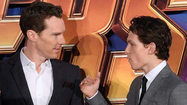 Tom Holland e Benedict Cumberbatch alla première di Avengers: Infinity War