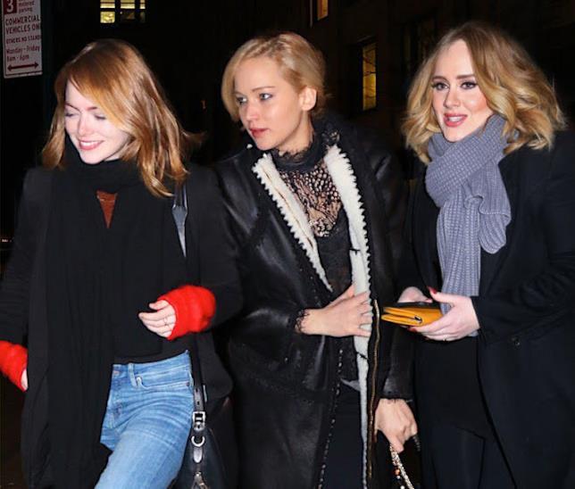 Emma Stone, Jennifer Lawrence e Adele sono molto amiche