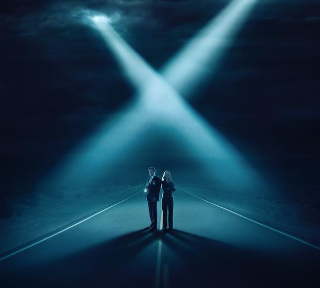 La locandina della nuova stagione di X-Files, una delle prime assolute di FOX a gennaio.