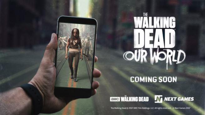 Una scena d'azione in una GIF di The Walking Dead: Our World
