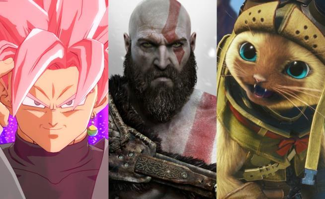 Primi piani per Goku Black, Kratos e Palico