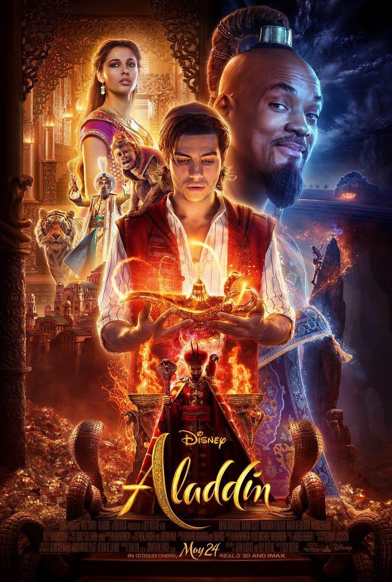 I protagonisti di Aladdin nel poster ufficiale del film