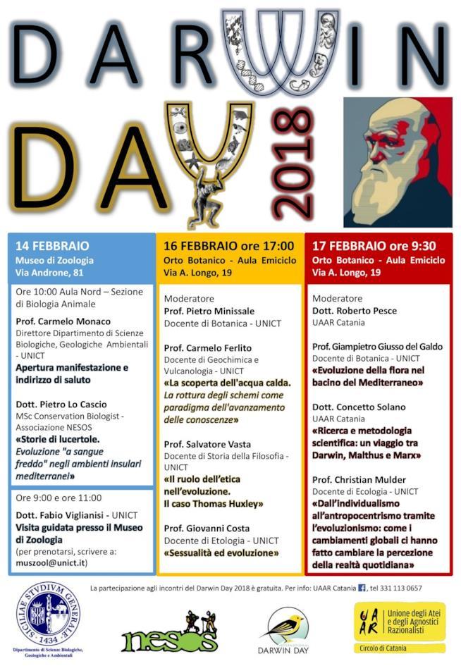 Il calendario eventi del Darwin Day a Catania