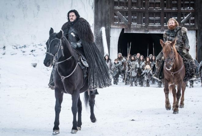 Jon Snow e Tormund nel finale di Game of Thrones