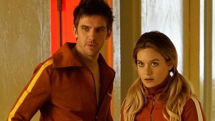 David (Dan Stevens) e Sydney (Rachel Keller) in una scena di Legion