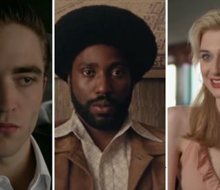 Da sinistra a destra gli attori: Robert Pattinson, John David Washington e Elizabeth Debicki