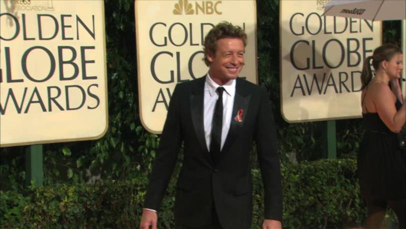 L'attore Simon Baker alla cerimonia dei Golden Globe