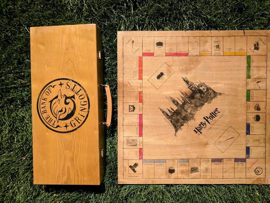Il logo della Banca dei Gringotts è il tocco finale sulla scatola del gioco