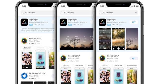 Search Ads su App Store mostra un contenuto pubblicizzato in cima alla lista
