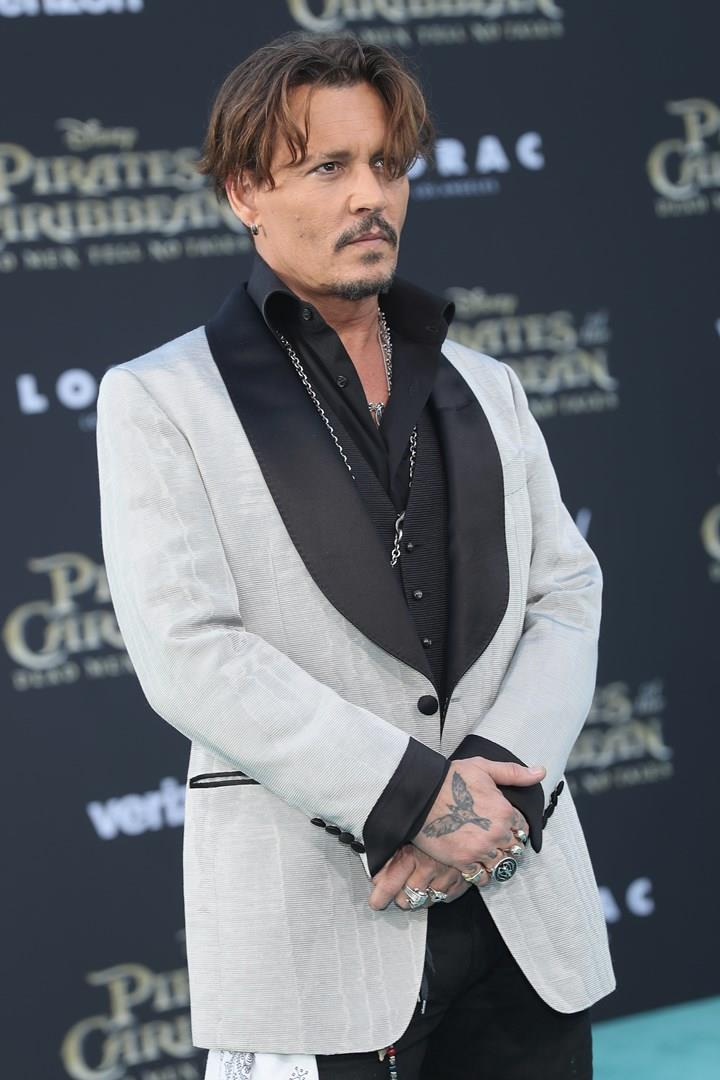 Johnny Depp alla prima di Pirati dei Caraibi - La vendetta di Salazar