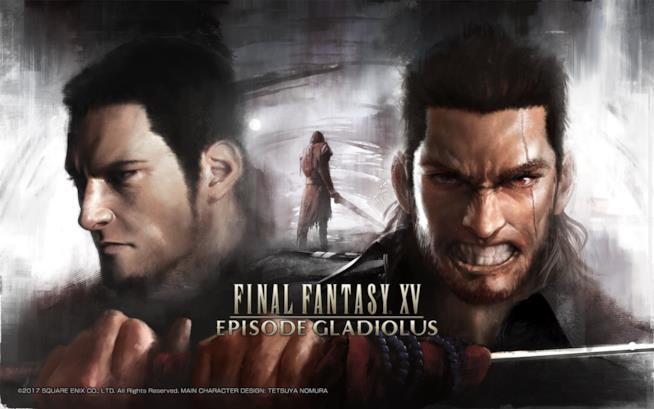 Gladio sulla cover ufficiale del DLC di Final Fantasy XV