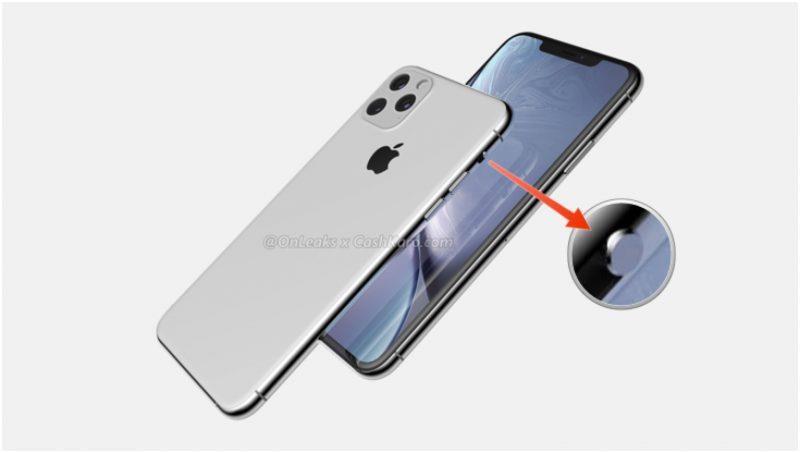 Render di iPhone XI e XI Max che mette in risalto il rinnovato switch per il silenzioso