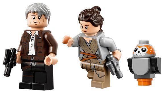 Alcune minifigure contenute nel set Millennium Falcon LEGO