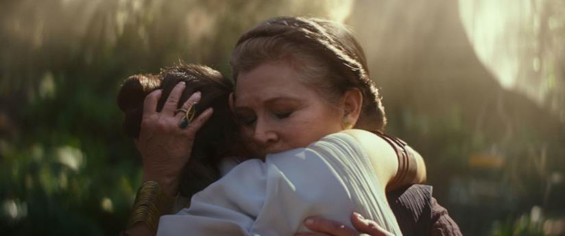 Carrie Fisher in Star Wars: L'ascesa di Skywalker