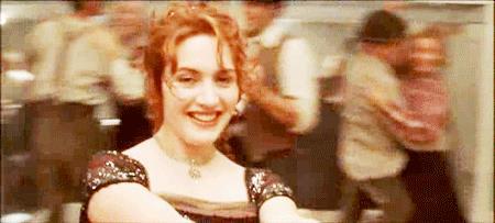 Jack e Rose in una scena di Titanic