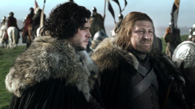 Kit Harington e Sean Bean in Game of Thrones