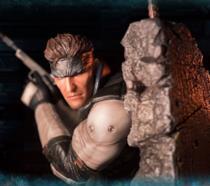 Un particolare dell'action figure di Solid Snake