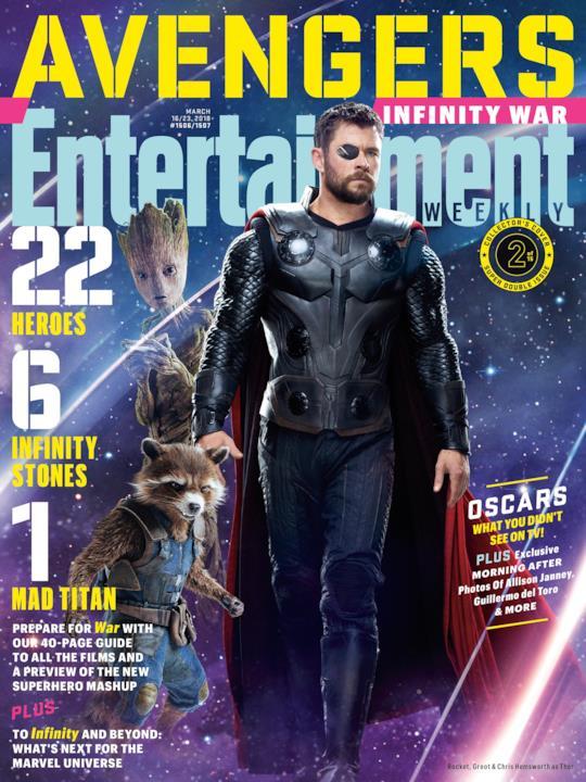 Thor, Groot e Rocket Raccoon su una delle variant cover di EW