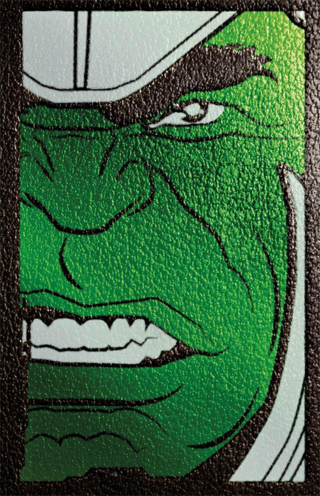 Copertina con viso di Hulk