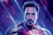 Un primo piano di Robert Downey Jr. nel poster di Avengers: Endgame