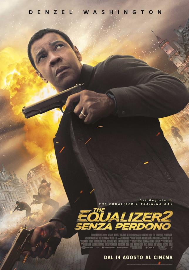 Il poster italiano di The Equalizer 2 - Senza perdono