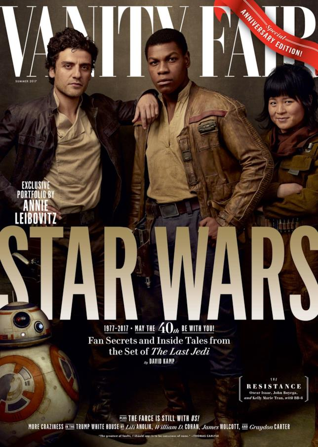 Vanity Fair: BB-8, Poe Dameron, Finn e Rose Tico