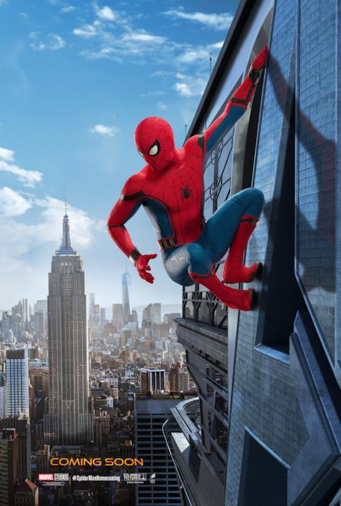 Spider-Man si arrampica su un grattacielo
