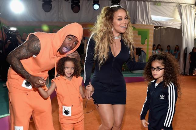 Nick Cannon con Mariah Carey e i loro figli