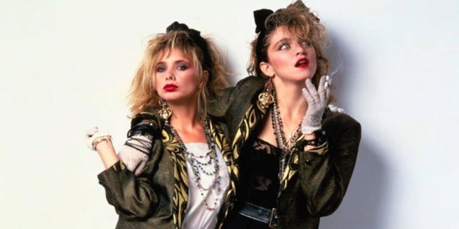 Madonna e Rosanna Arquette negli anni 80